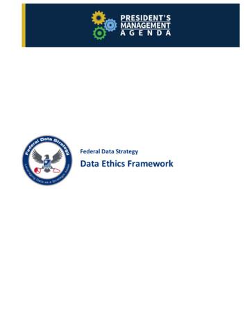 Federal Data Strategy Data Ethics Framework