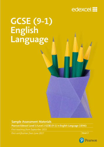 GCSE (9-1) English Language - Pearson qualifications
