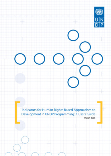 Indicators for Human Rights Based Approaches to .