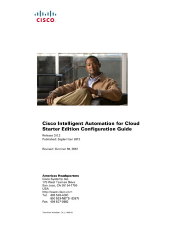 Cisco Intelligent Automation for Cloud Starter Edition .