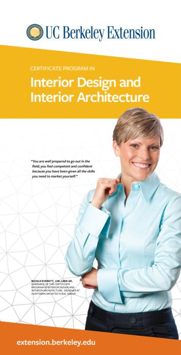CERTIFICATE PROGRAM IN Interior Design and Interior .