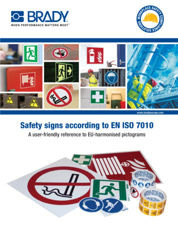 bradyeurope Safety signs according to EN ISO 7010