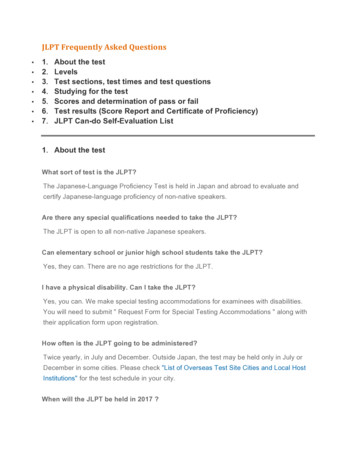 JLPT Frequently Asked Questions - Langara College
