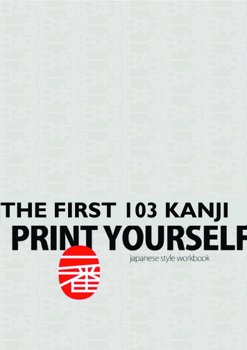 THE FIRST 103 KANJI - NIHONGO ICHIBAN