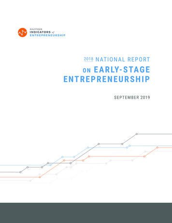 NATIONAL REPORT ON EARLY-STAGE ENTREPRENEURSHIP