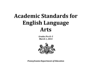 Academic Standards for English Language Arts