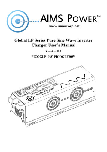 Global LF Series Pure Sine Wave Inverter Charger User's Manual