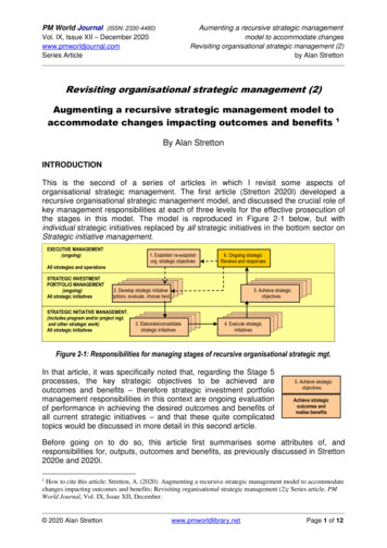 Revisiting organisational strategic management (2 .