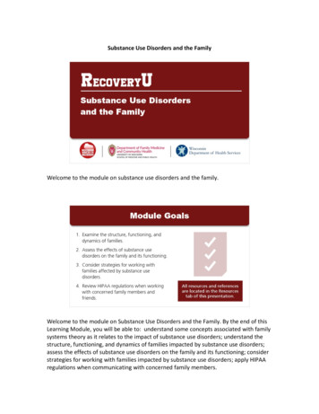 Substance Use Disorders & The Family
