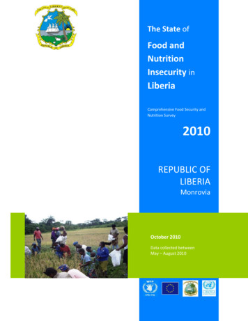 Food and Nutrition - UNDP