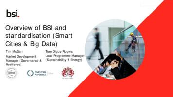 Overview of BSI and standardisation (Smart Cities & Big Data)