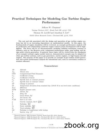 Practical Techniques for Modeling Gas Turbine Engine .
