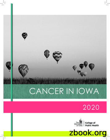 CANCER IN IOWA - University of Iowa