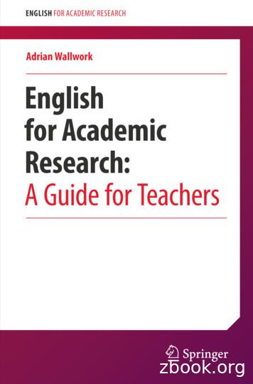 Adrian Wallwork English for Academic Research: A Guide for .
