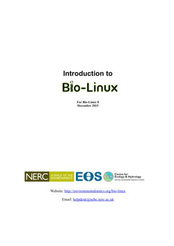 Introduction to Bio-Linux 6 - NEBC Course Notes