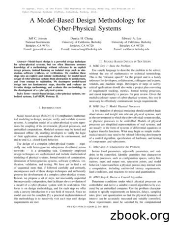 A Model-Based Design Methodology for Cyber-Physical Systems