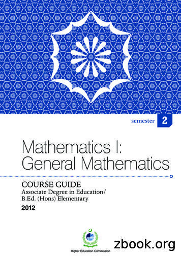 Mathematics I: General Mathematics