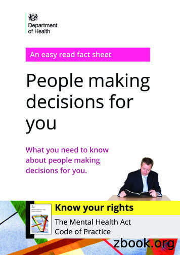 An easy read fact sheet People making decisions for