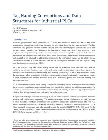 Tag Naming Conventions and Data Structures for Industrial PLCs