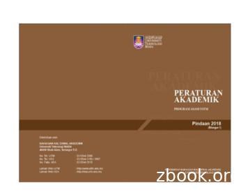 Peraturan Akademik Universiti Teknologi MARA (Pindaan 2018 .