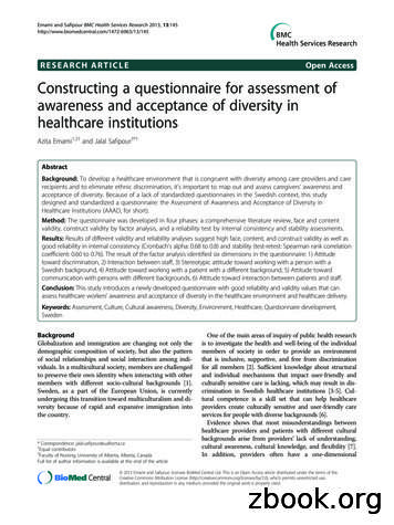 RESEARCH ARTICLE Open Access Constructing a questionnaire .