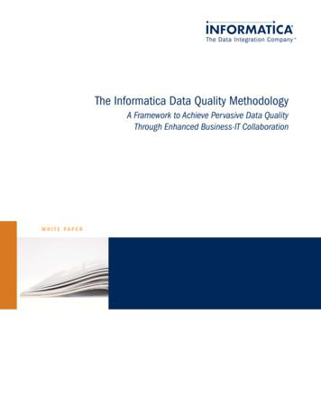 The Informatica Data Quality Methodology