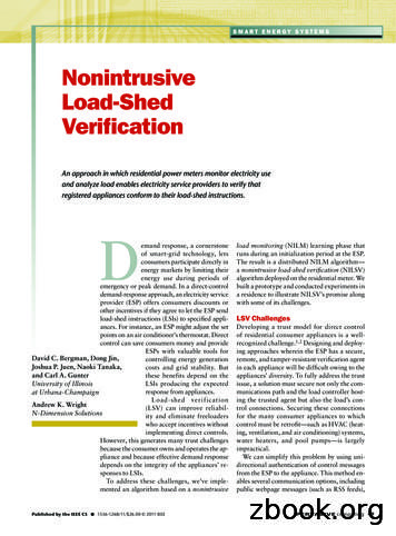 Nonintrusive Load-Shed Verification