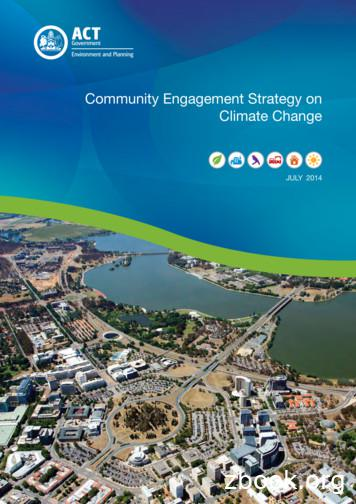 Community Engagement Strategy on climate change