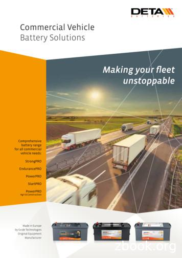 Commercial Vehicle Battery Solutions