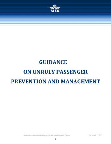 GUIDANCE ON UNRULY PASSENGER PREVENTION AND MANAGEMENT