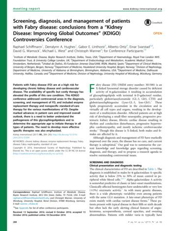Screening, diagnosis, and management of patients with .