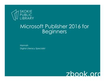 Microsoft Publisher 2016 for Beginners - Skokie Public Library