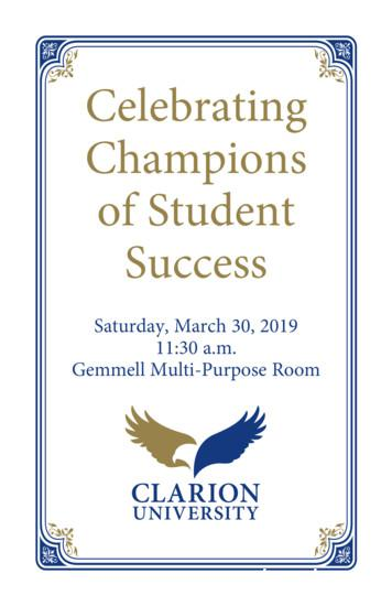 Celebrating Champions of Student Success