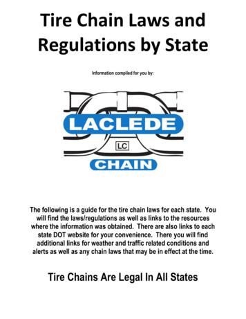 Tire Chain Laws and Regulations by State