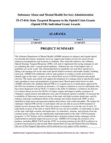 TI-17-014: State Targeted Response to the Opioid Crisis .