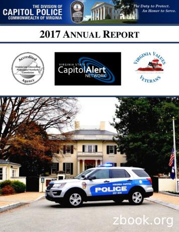 2017 ANNUAL REPORT - Virginia Division of Capitol Police