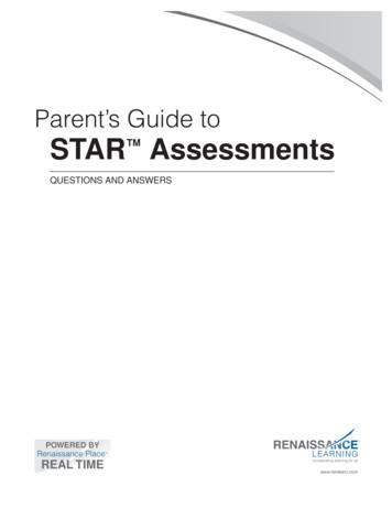 Parent's Guide to STAR Assessments