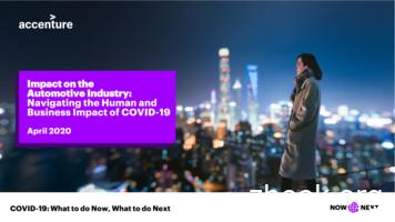 COVID-19: Impact on the Automotive Industry Accenture