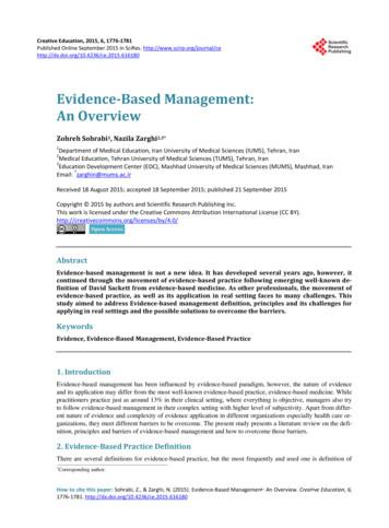 Evidence-Based Management: An Overview