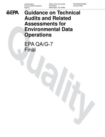 Guidance on Technical Audits and Related Assessments for .