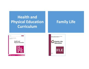 Health and Physical Education Family Life Curriculum
