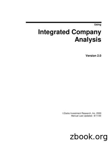 Using Integrated Company Analysis