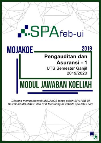 MOJAKOE UTS 2019/2020 - SPA FEB UI