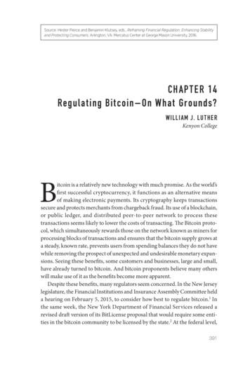 CHAPTER 14 Regulating Bitcoin— On What Grounds?