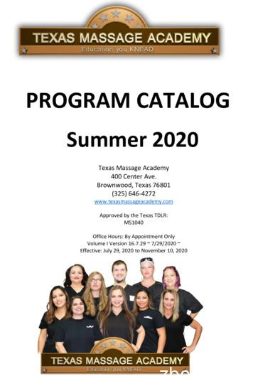 Summer 2020 - Massage therapy schools in Texas