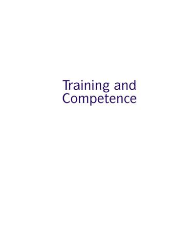 Training and Competence - FCA Handbook