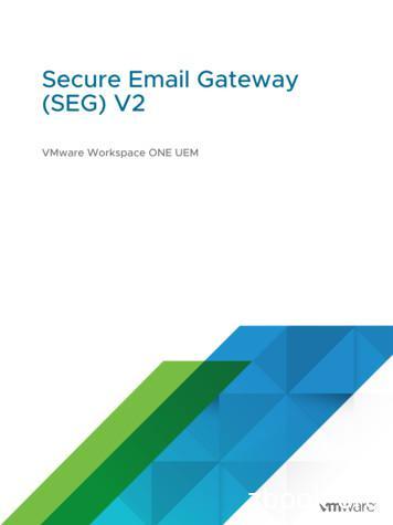Secure Email Gateway (SEG) V2 - VMware