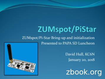 ZUMspot/Pi-Star Bring-up and initialization Presented to .
