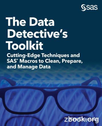 The Data Detective's Toolkit - Sas Institute