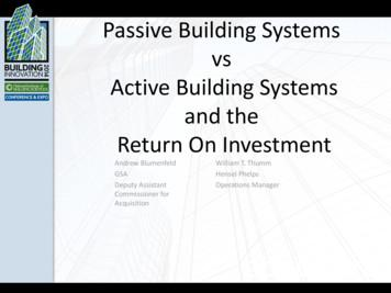 Passive Building Systems vs Active Building Systems and .